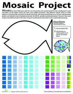 Make A Fish Mosaic