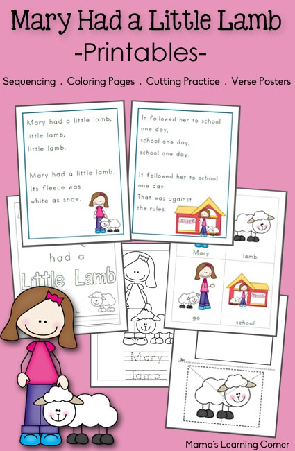 Mary Had A Little Lamb Printable Activities
