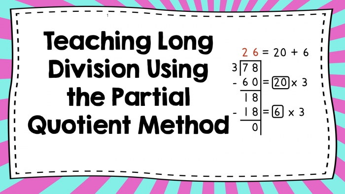 Math Is Fundamental Teaching Division Using The Partial Quotient