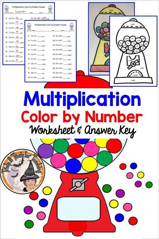 Multiplication Color By Number Worksheet Answer Key