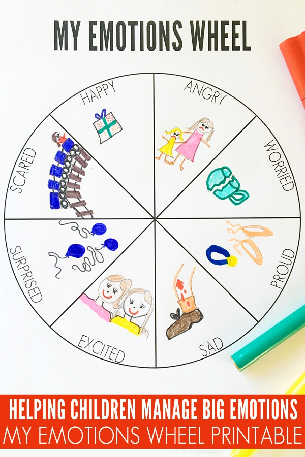 My Emotions Wheel Printable