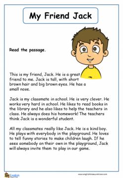 Make A Mini Story Book: My Friend