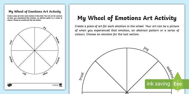My Wheel Of Emotions Art Worksheet Teacher Made