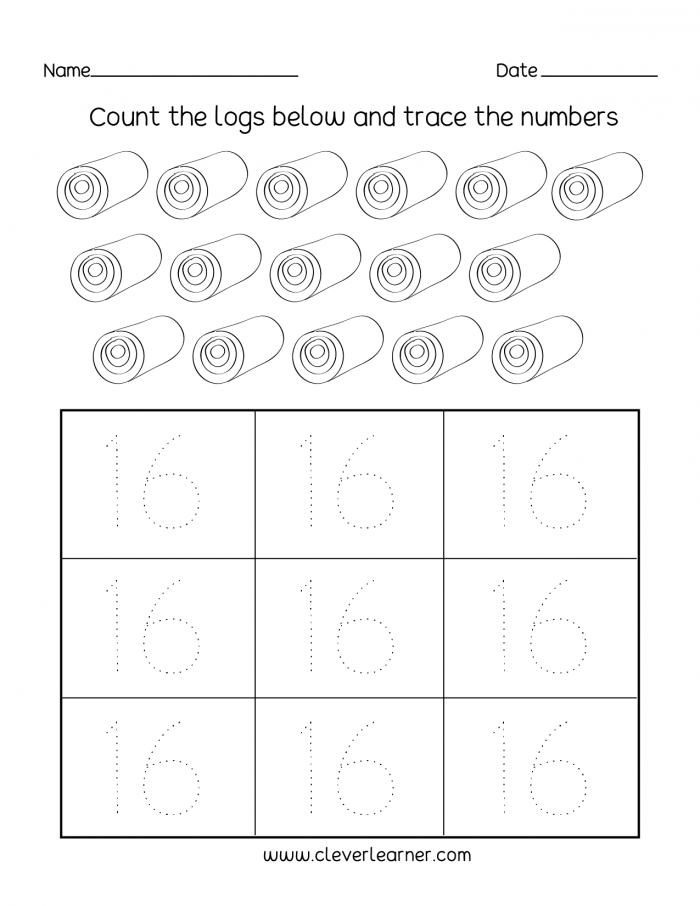Number  Writing  Counting And Identification Printable