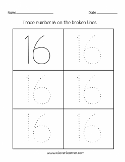 Tracing Numbers And Counting: 16