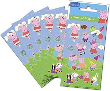 Paper Projects  Peppa Pig Party Bag Sticker Pack