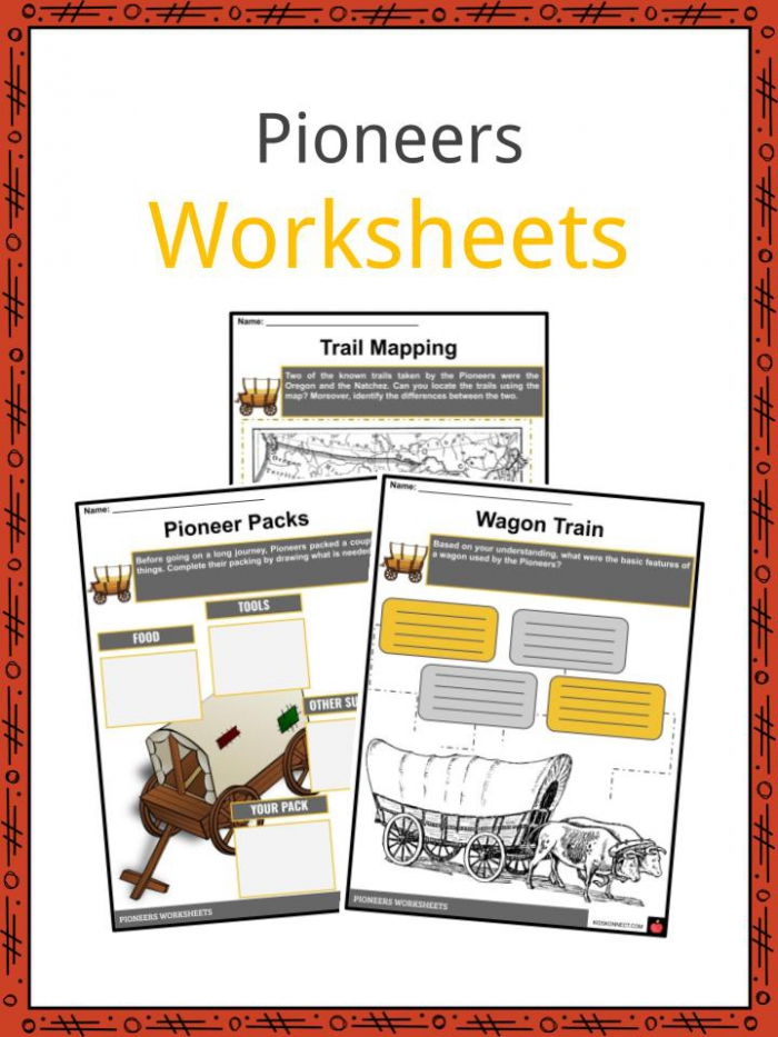 Pioneer Facts  Information   Worksheets