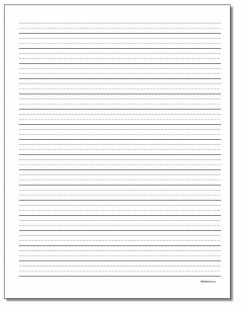 Lined Handwriting Paper