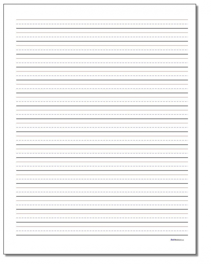 Printable Pdf Writing Paper Templates In Multiple Different Line