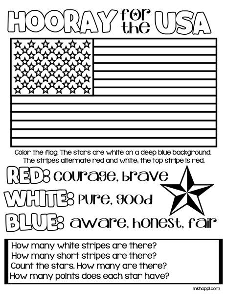 Red  White   Blue Usa Colors Meaning Free Printables