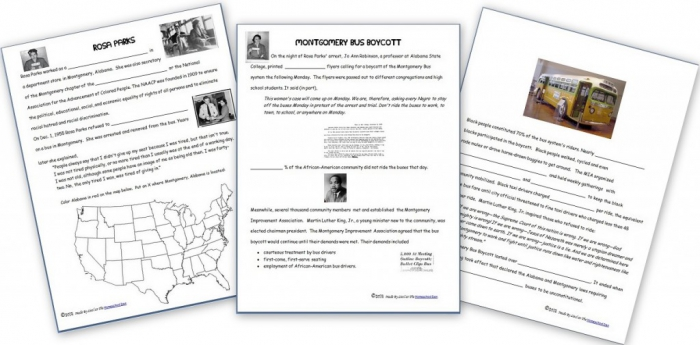 Rosa Parks And The Montgomery Bus Boycott Free Notebook Pages