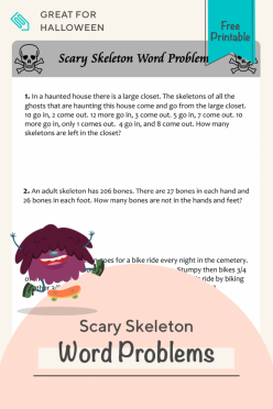 Scary Skeleton Word Problems