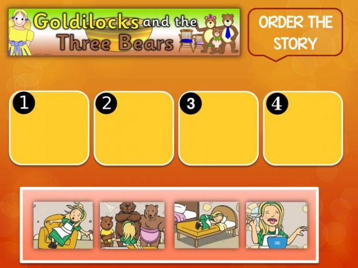 Sequence Story Goldilocks And The Three Bears Worksheet