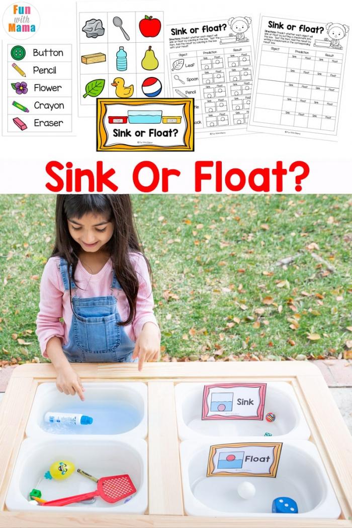 Sink Or Float Experiment  Worksheet