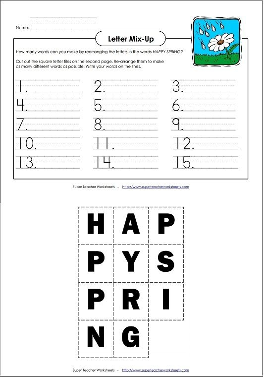 Spring Primary Letter Mix Up