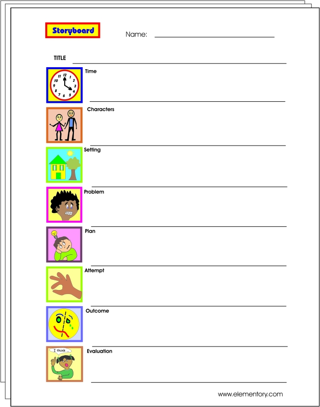 Storyboard Worksheets