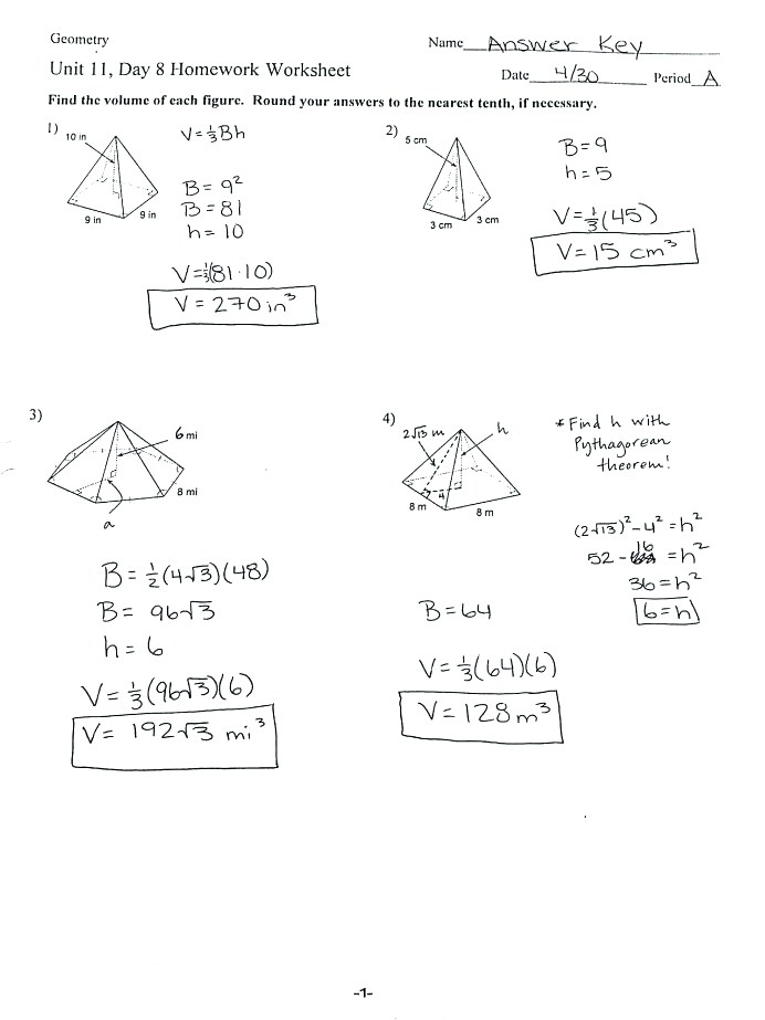 Surface Area Volume Worksheets Kids Activities Word Problems