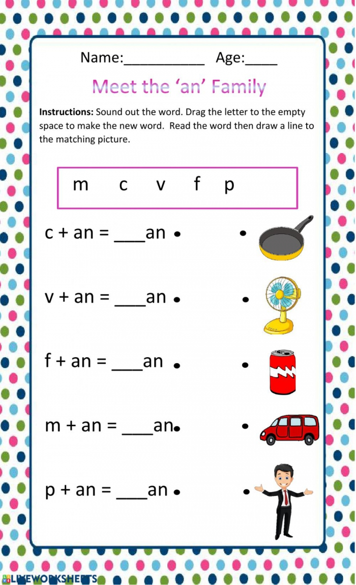 The An Family Worksheet