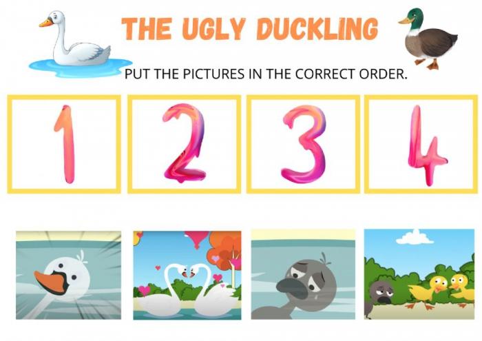 The Ugly Duckling Online Worksheet