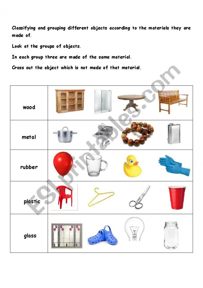 Things Made Of Wood Worksheets