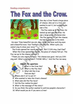 Punctuation: The Fox And The Crow