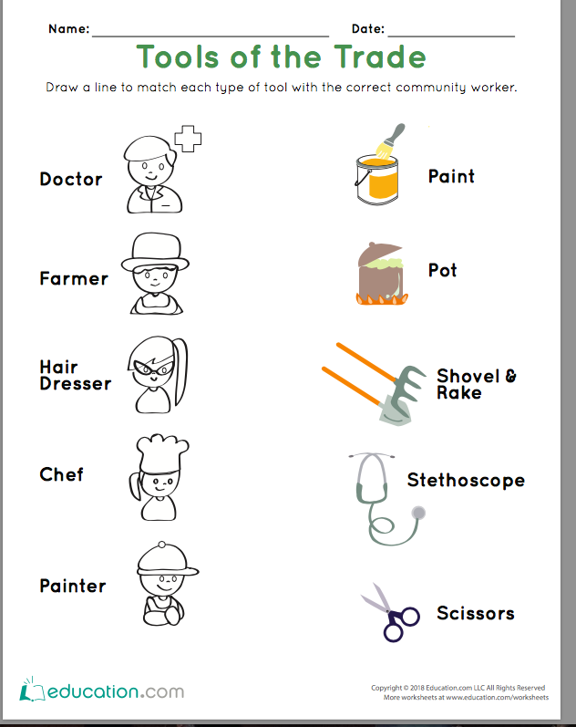 Tools Of The Trade Part Two Worksheets