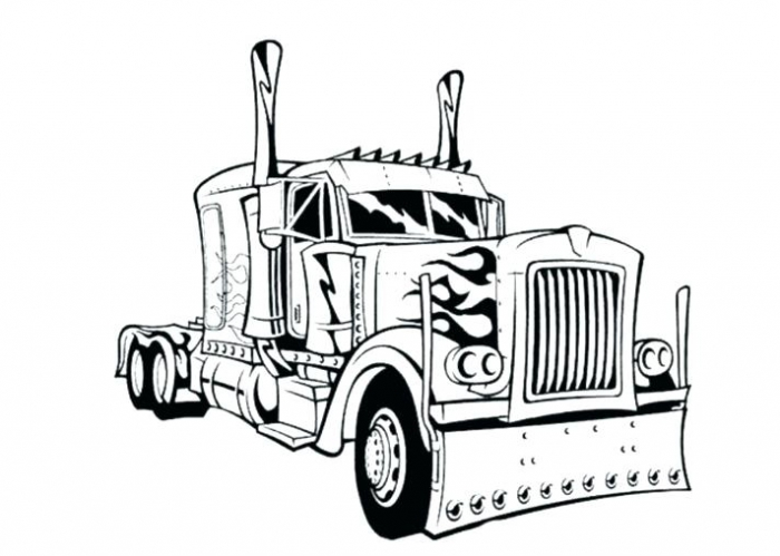 Truck Coloring Pages For Kids Free Printable Worksheets Semi