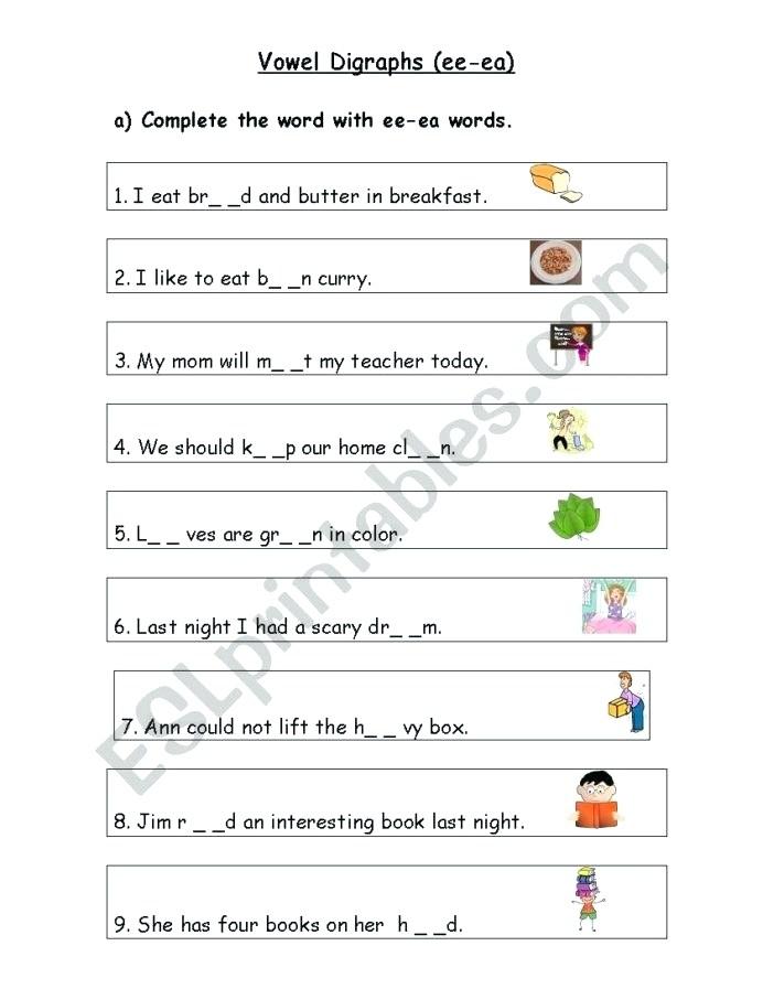 Vowel Digraphs Circle Word Worksheet Phase Phonics Worksheets Aw