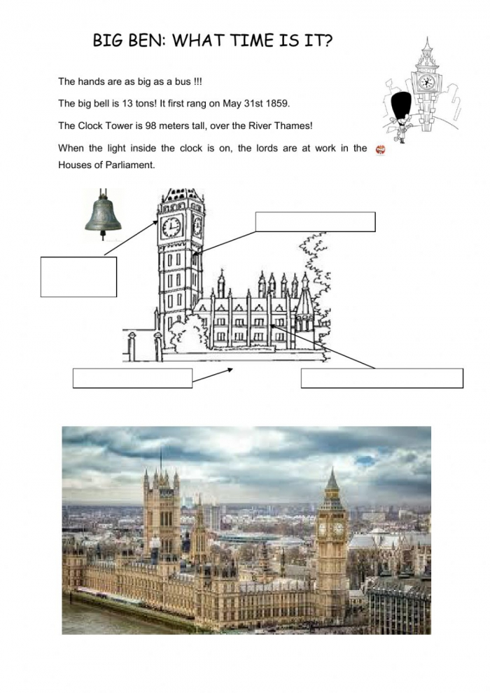 What Time Is It On Big Ben Clock Tower Worksheet