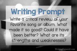 Writing Prompt: Favorite Song