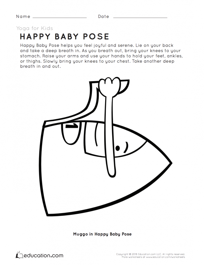 Yoga For Kids Happy Baby Pose