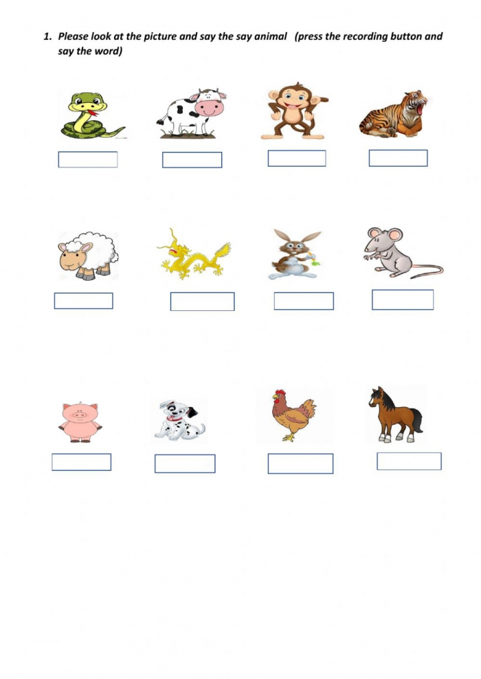 Zoo And Farm Animals Worksheet
