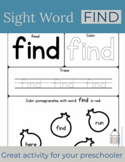 """Learning Sight Words: """"I"""""""