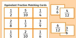 Matching Equivalent Fractions