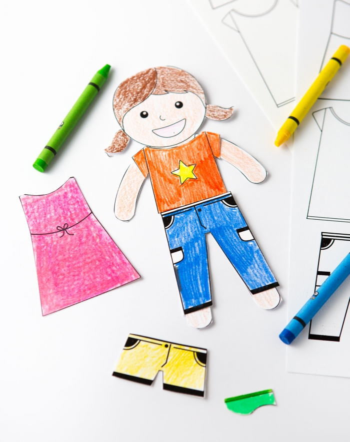 Color Your Own Printable Paper Dolls