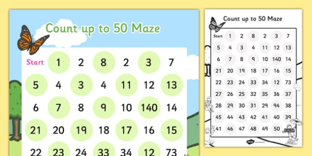 Counting Up To  Maze Worksheet  Worksheet Teacher Made