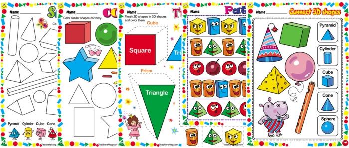 D Shape Worksheets For Use In Preschool Teachersmagcom