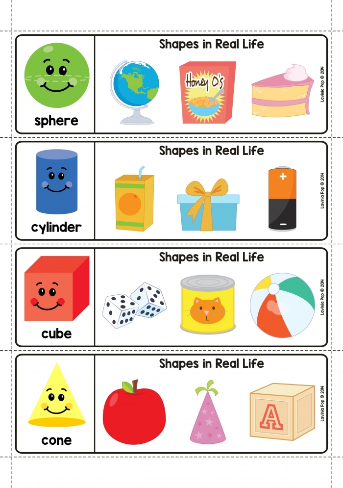D Shapes In Real Life Worksheets