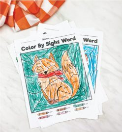 Fox Color By Sight Word