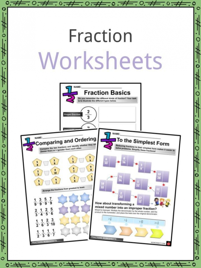 Fraction Facts  Worksheets  Basics   Adding For Kids