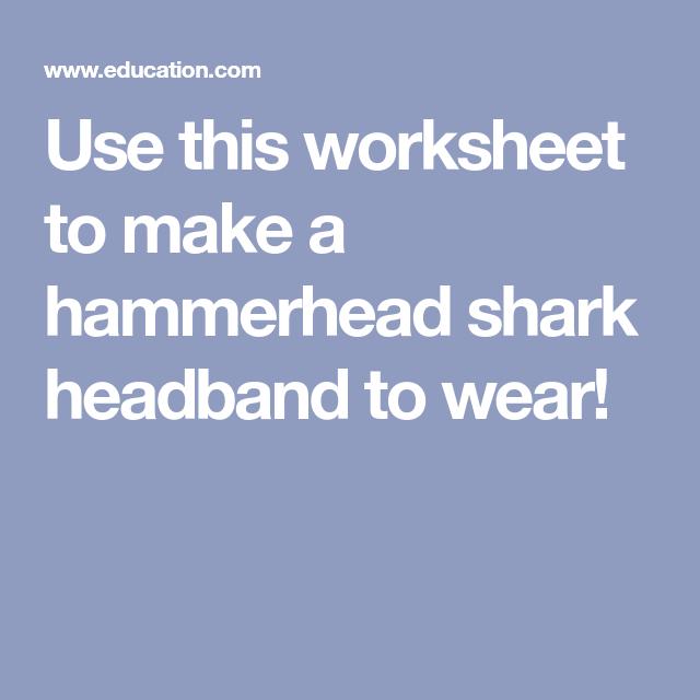 Hammerhead Shark Headband