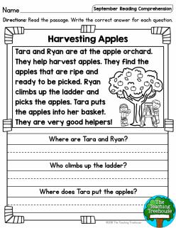 Reading Fluency: Apple Picking
