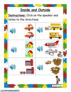 Preschool Math: Inside And Outside