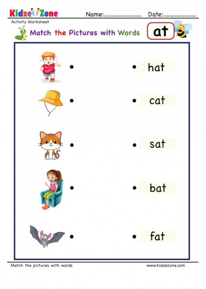 Kindergarten Activity Worksheets