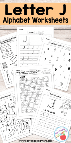 Get Ready For Reading: All About The Letter J