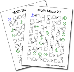 Math Maze: Single-Digit Addition And Subtraction