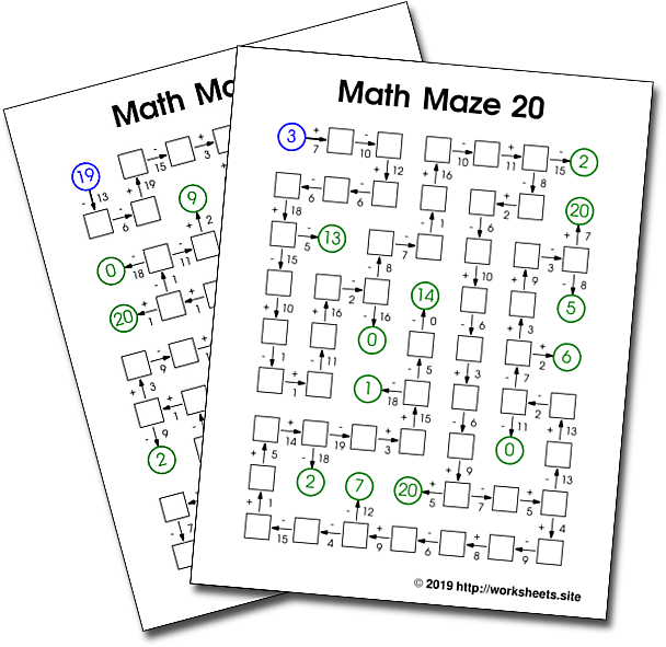Math Mazes With Addition And Subtraction