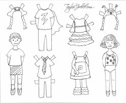 Color And Dress Boy Paper Dolls!