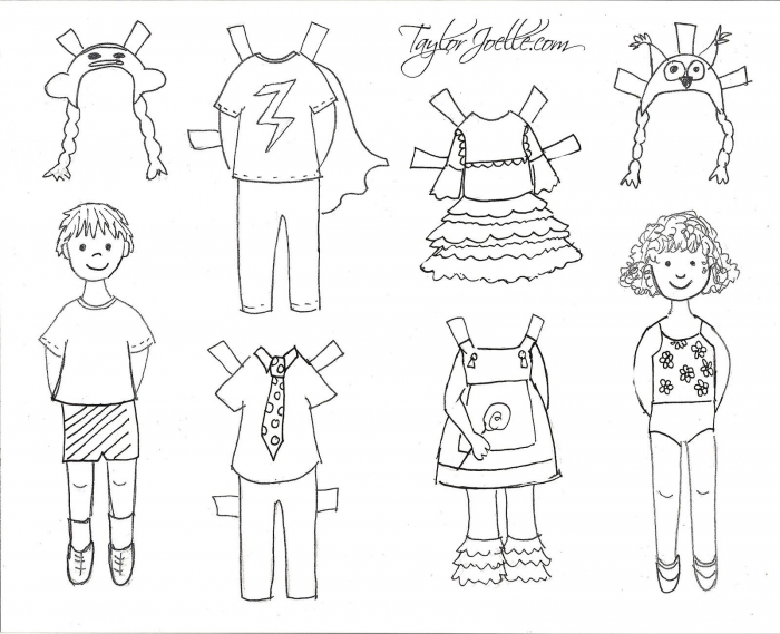 Paper Doll Coloring Pages Boy