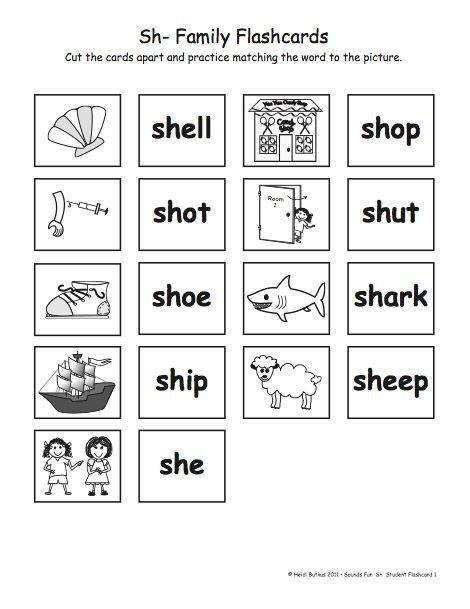 Sh Word Ideas